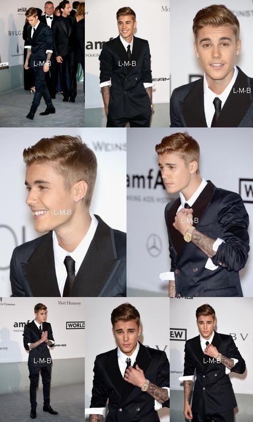 Justin à un gala à Cap d'Antibes