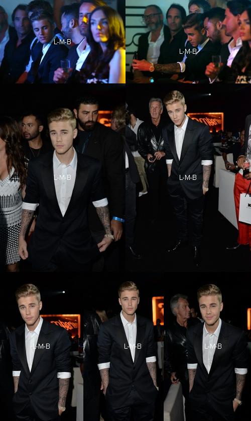 Justin à un défilé de mode à Monaco
