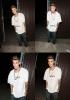 Justin sortant d'un studio d'enregistrement