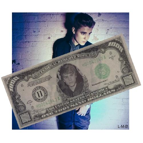 Justin l'artiste le mieux payé de l'année