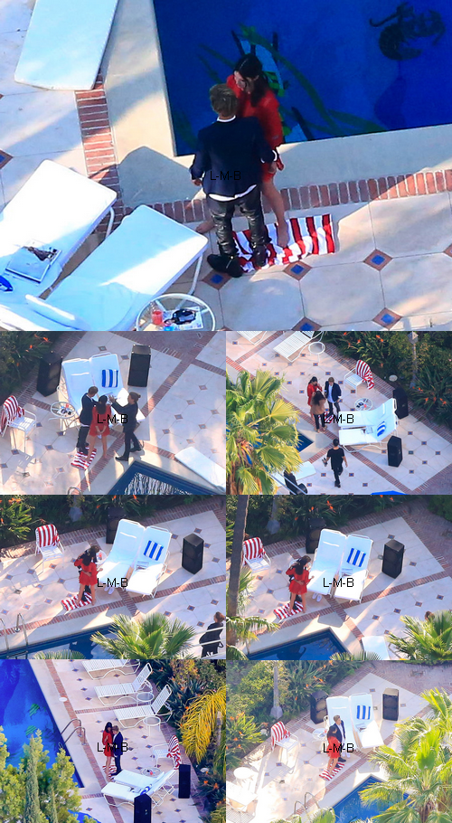 Justin faisant un photoshoot avec Kendall Jenner