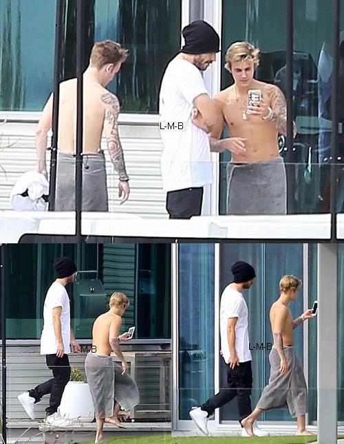 Justin dans sa propriété à Beverly Hills