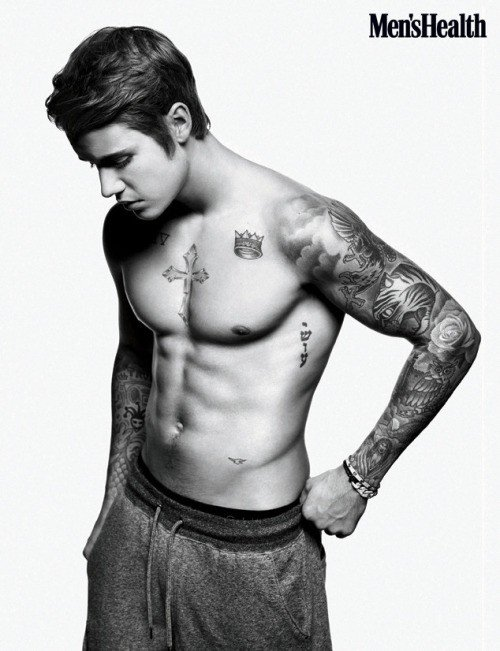 Justin pour le magazine Men's Health