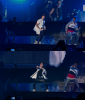 Justin sur la tournée d'Ariana Grande en Californie