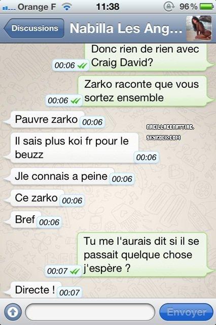 Nabilla Dement sa relation avec Craig David ♥