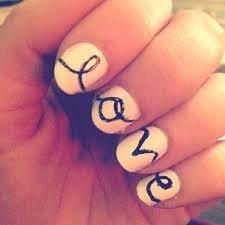 Nail art Love