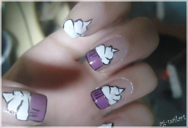 Nail art - Cupcakes