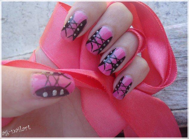 Nail art Corset