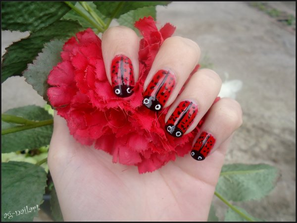 Nail art - Coccinelle