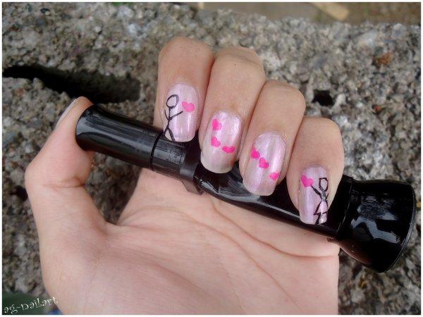 Nail art - amoureux