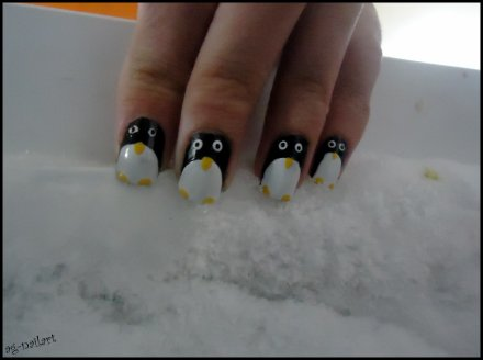 Nail art - Pingouin