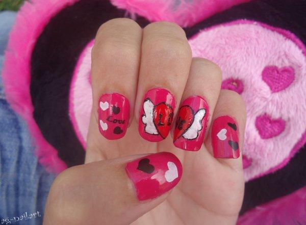 Nail art - St valentin