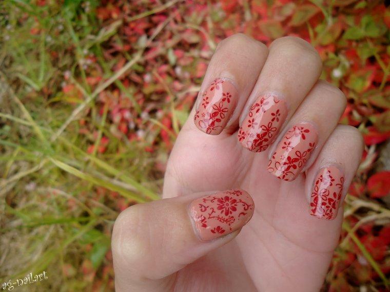 Nail art au stamping n°3 : Fleurs