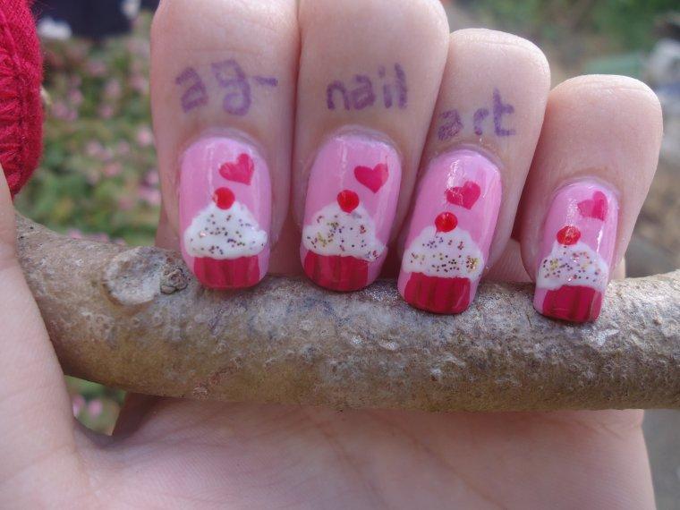Nail art - Cupcakes n°2