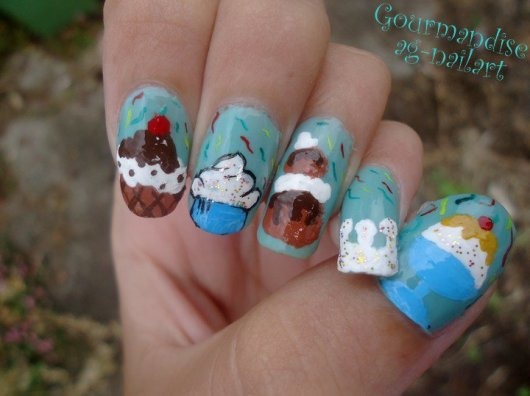 Nail art - Gourmandise
