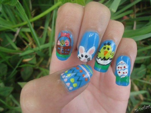 Nail art - Pâques