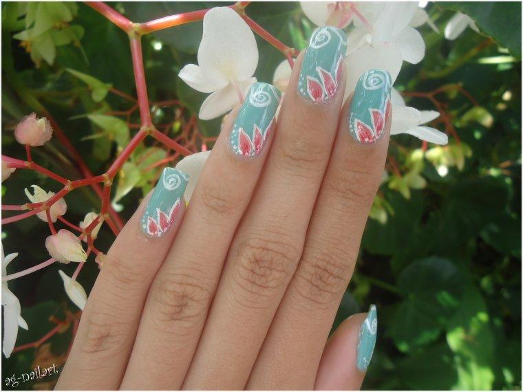 Nail art - Pétales de fleur