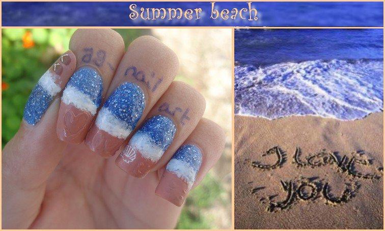 Nail art été : plage