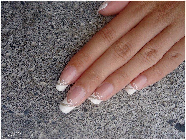Nail art mariage - French manucure par Tartofraises