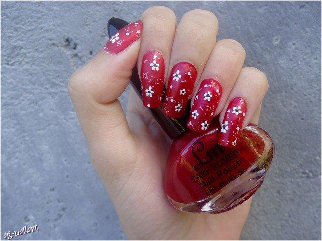 Nail art - Fleur au dotting tool