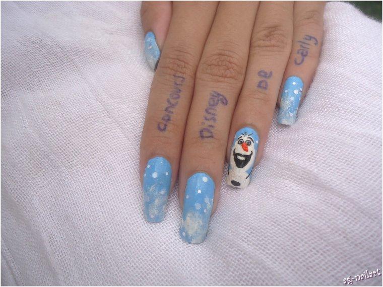Nail art disney - Olaf