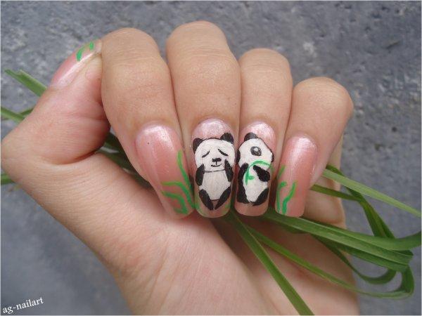 Nail art Panda