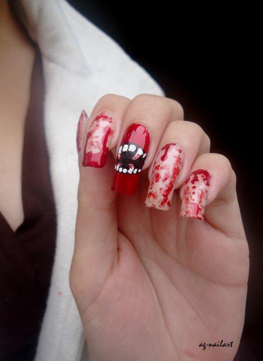 Nail art Halloween n°1 : Vampire