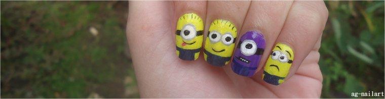 Nail art - Minions(Moi moche et méchant)