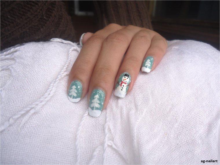 Nail art - Hiver