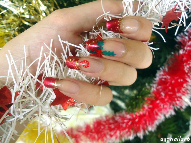 Nail art de noel 2015