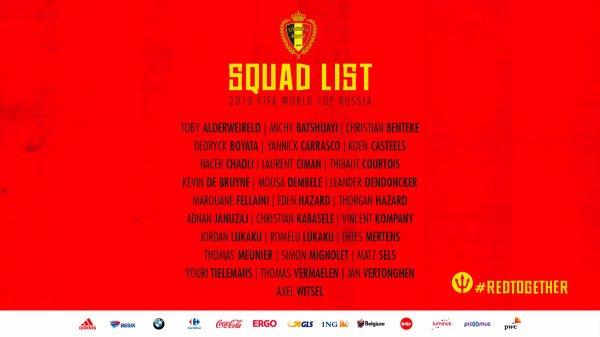 Roberto Martinez a dévoilé ce lundi midi à Tubize les noms des 28 Diables Rouges présélectionnés pour le Mondial 2018 en Russie. Il annoncera officiellement la liste des 23 après le match de préparation face au Portugal le 2 juin.