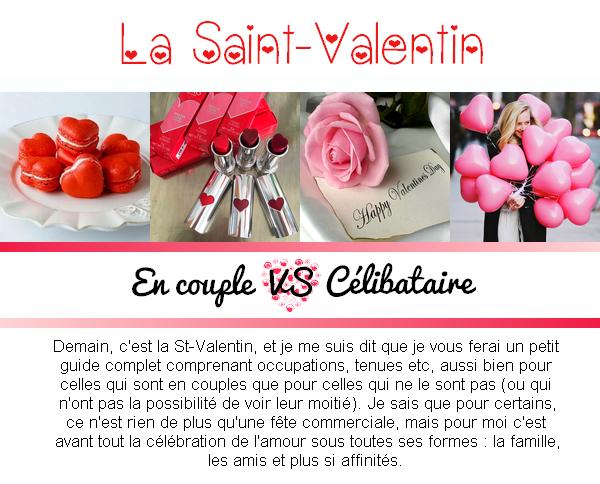 Le guide de la St-Valentin partie 1 : En couple