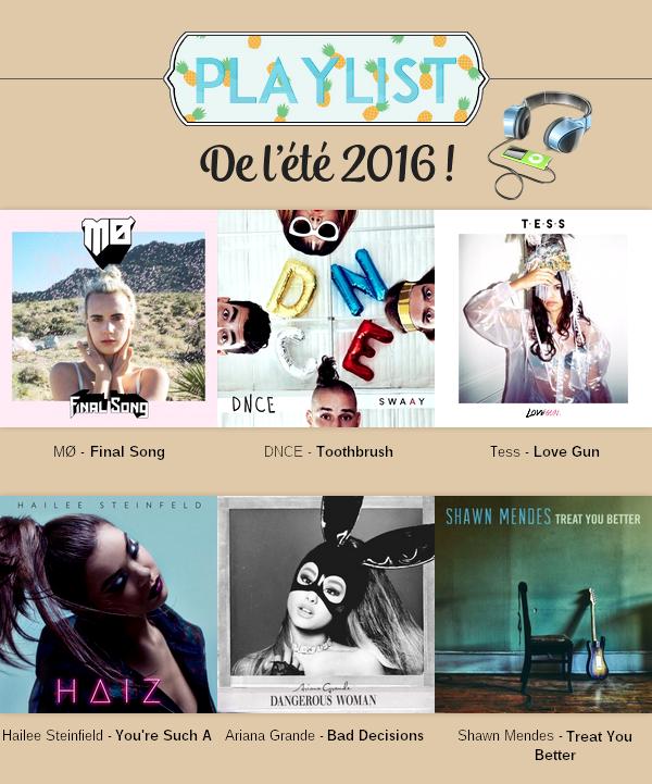 Playlist : été 2016
