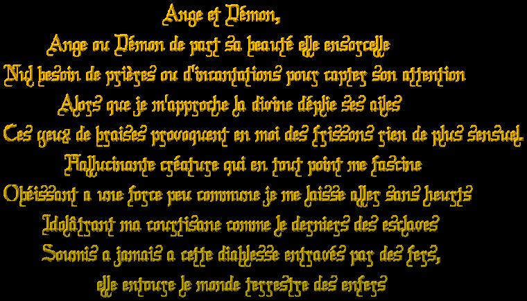 ☩༺༻ Ange et démon  ༺༻☩
