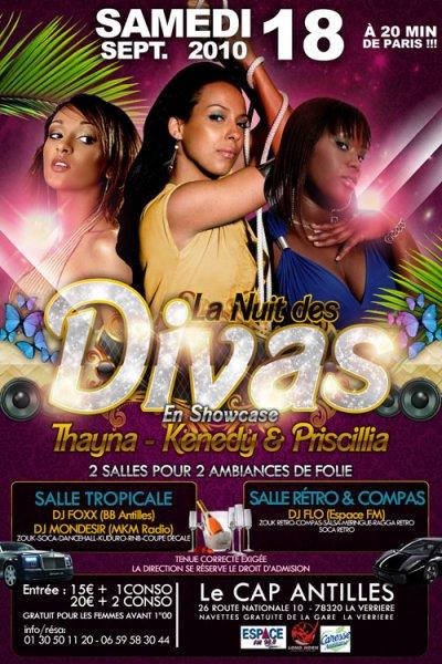 ★★ LA  NUIT DES DIVAS ★★ AVEC : KENEDY , THAYNA & PRISCILLIA  le 18 / 09 /2010