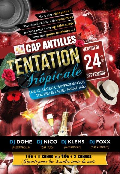 LE VENDREDI 24 SEPTEMBRE 2010 >> TENTATION TROPICALE (Soirée Célibataire) LADIES NIGHT TOUTE LA NUIT