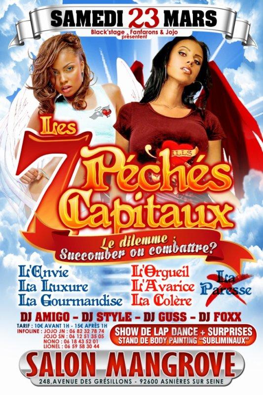 """Les 7 Péchés Capitaux """" Succomber ou Combattre """" .. LAP DANCE / BODY PAINTING/ Mixed by DJ AMIGO , DJ GUSS , DJ STYLE , DJ FOXX"""