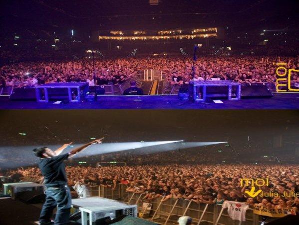 """LINKIN PARK , MARDI 28 JUILLET 2009 A Hallenstadion , Zurich !!    """" NAN MAIS NE T'INQUIETE PAS , C'EST PAS PEKIN EXPRESS QU'ON VA FAIRE ! ON VA S'EN SORTIR  ! """" [..] """" Zurich Express : 2 filles ,1 concert , 3 jours pour faire leur preuves ! """" ( avec Caroussel en fond sonore, merci Julia ^^ )"""