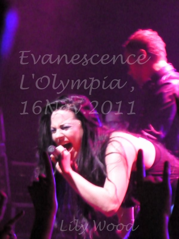 EVANESCENCE , 16.11.11 @ l'Olympia , Paris