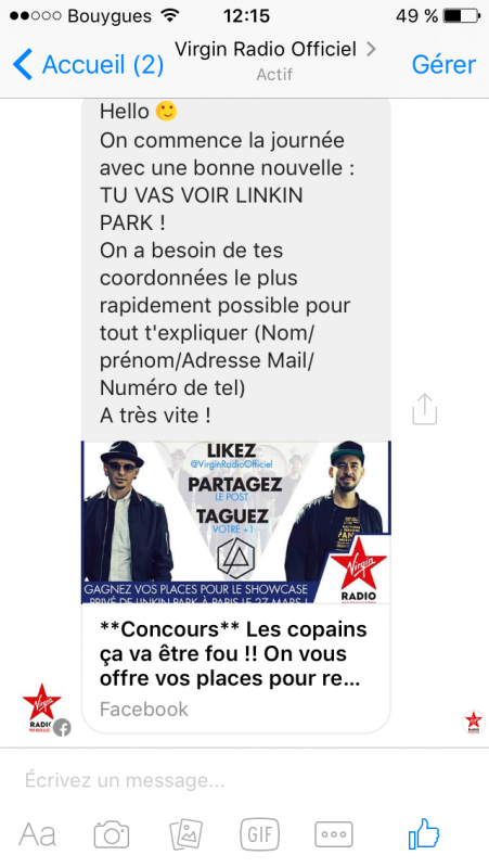 Lundi 27 Mars 2017_ Showcase privé Virgin Radio avec Mike et Chester @Paris ,au 118