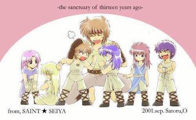 Les 7 chevaliers d'or il y à 13 ans