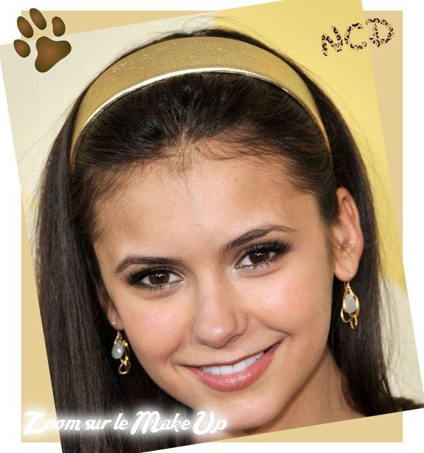 Bon,Nina, Je vois que tu es décider de rester dans ton coin!   Le 28 mars 2009, Nina étais au Nickelodeons 22nd Annual Kids Choice Awards à Westwood !  Je trouve qu'elle est très belle, mais la tenue pas terrible.Mais j'aime beaucoup quand même  :)  Pour moi, c'est un TOP ! J'ai fais un zoom sur son Make up, c'est très léger, j'adore,même si on vois un peu qu'elle a encore de l'acné, je préfère sa qu'à quelque chose qu'on se demande si c'est vraiment elle :s Votre avis sur la tenue et le Make up ?