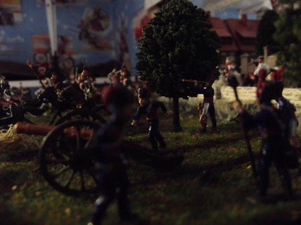 Diorama de la Bataille de Leipzig : Les français entrent au combat !!!
