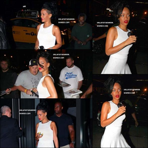 11.06: Rihanna a été vue dans la nuit à New York. RAPPEL: Sa grand-mère est malade ce qui explique sa présence à New York !