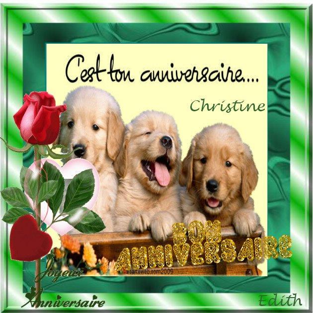 Joyeux Anniversaire Christine Blog De Ysatis5488