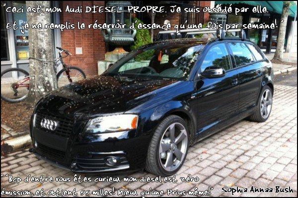 Audi pour Miss Bush!