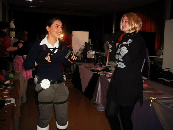 Le duo Amanda Evert et Lara Croft ;).