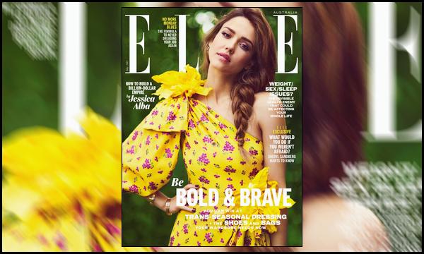 """"""" • Jessica A. fait la couverture du magasine « Elle Australia » édition de Juillet 2017 ! -"""