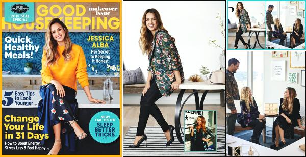 """"""" • Jessica A. fait la couverture du magasine bien être et déco « Good HouseKeeping » ! -"""