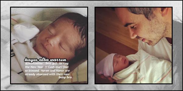 """"""" • Jessica Alba à accouchée du petit  Hayes Alba Warren qui est né le 31 décembre 2017 -"""
